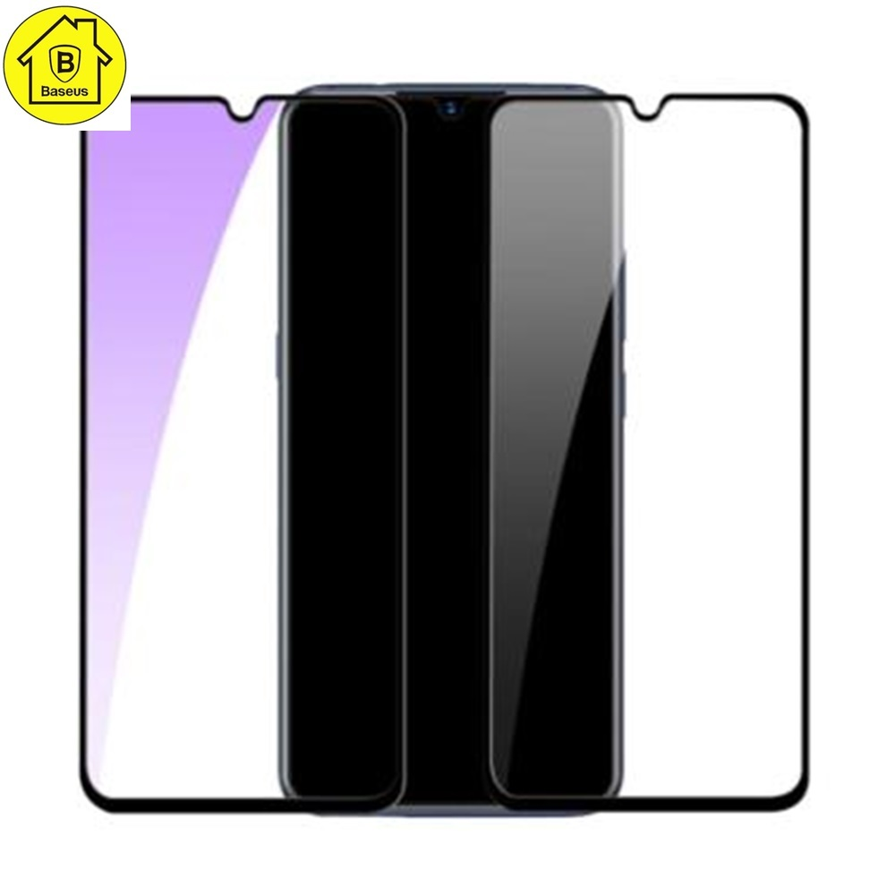 Baseus 0.3mm All-screen Arc-surface Anti-bluelight Tempered Glass Film For Vivo X23iQOO Black_23.jpg