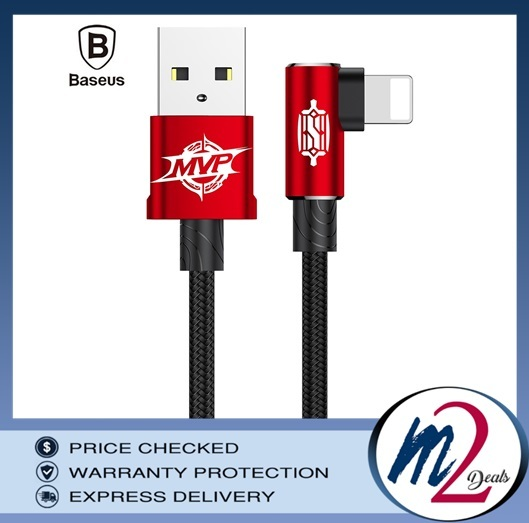 Baseus MVP Elbow Type Gaming Cable USB For Apple iPhone 2A 1M red.jpg