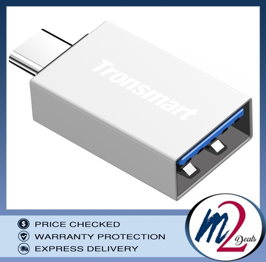 Tronsmart CTAF TypeC Male to USB-A 3.0 Female Adapter Silver.jpg
