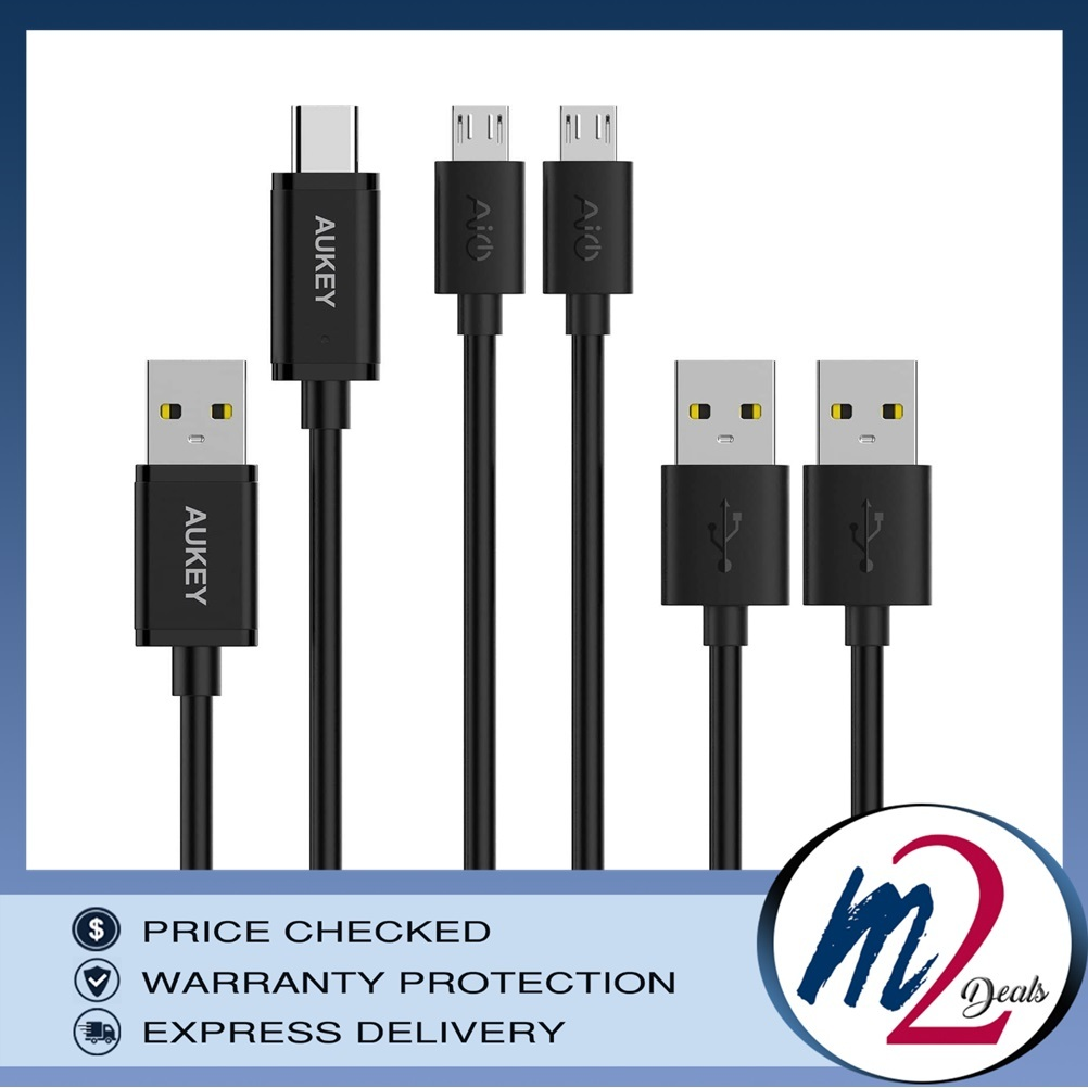 CB-TD1 USB 2.0 A TO USB C + Micro USB Qualcomm Quick Charge Cable (3 Pack).jpg