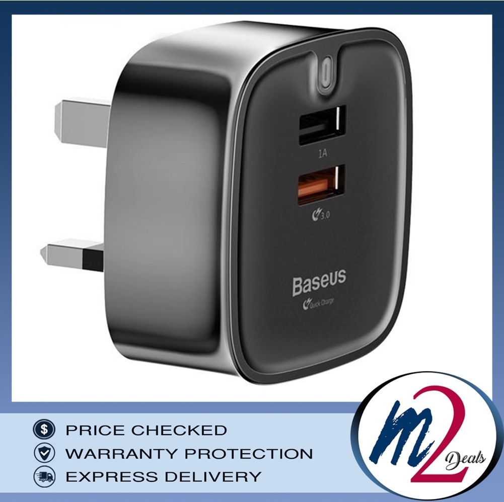 FUNZI QC 3.0 DUAL USB SMART TRAVEL CHARGER (UK PLUG )_BK_1.jpg