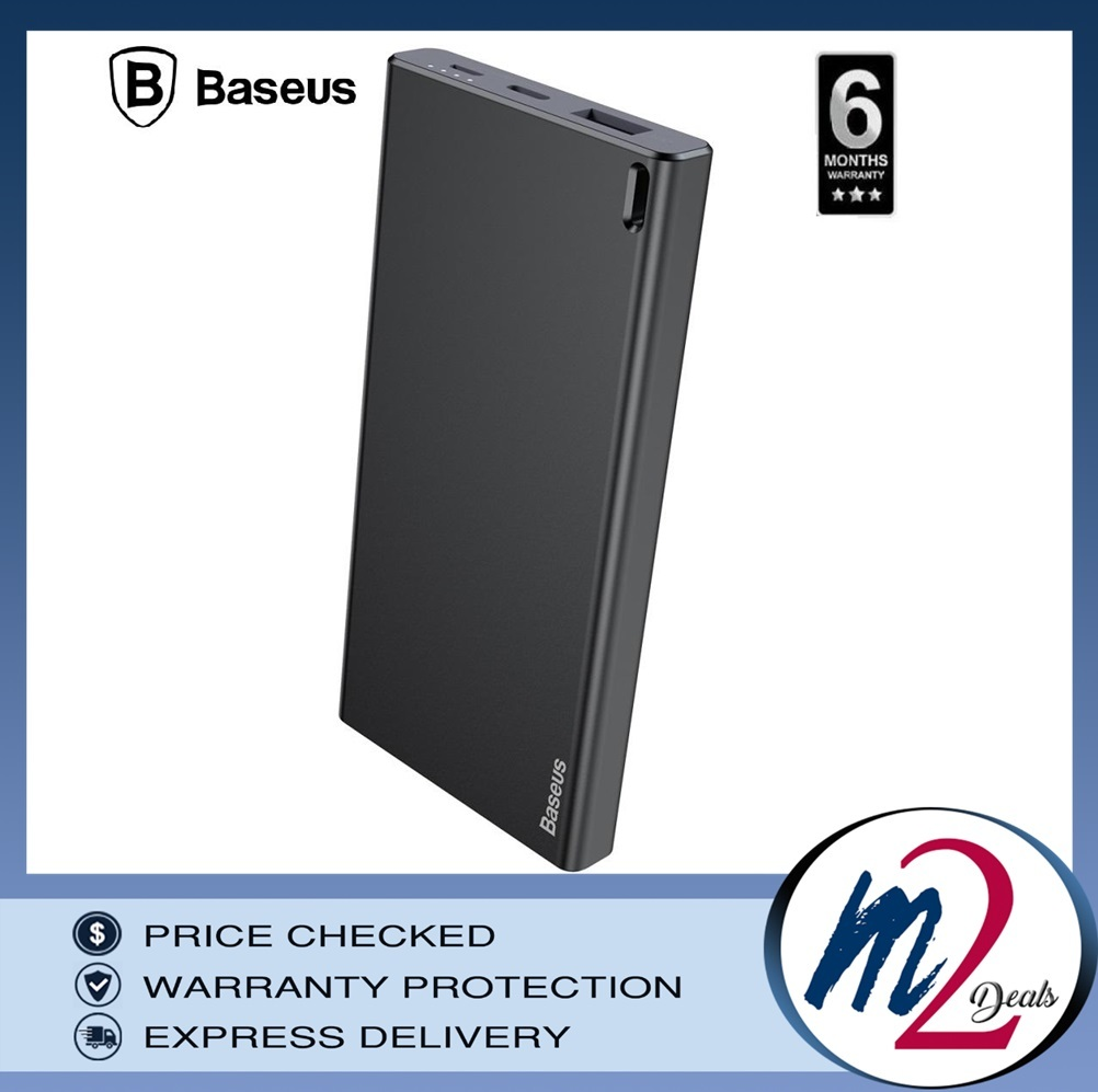 Baseus Choc Power Bank 10000mAh  Black+Gray.jpg