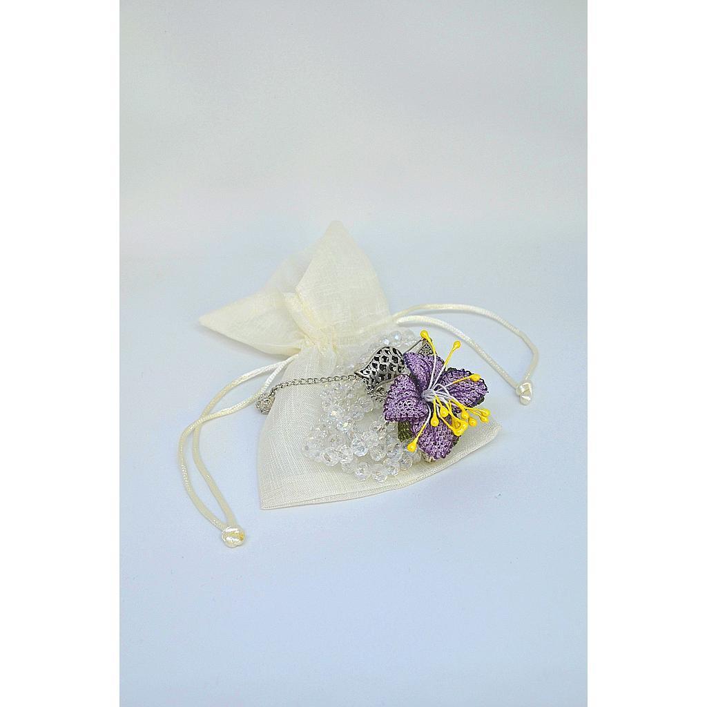 ISATU011800002 Turkish Crystal Long Tasbih (100 beads) - Purple Flower.jpg