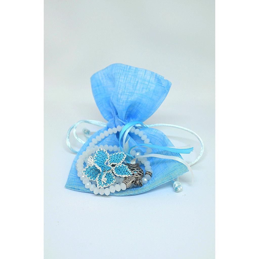 ISATU011800003 Turkish Opaque White Tasbih (100 beads) - Blue Flower.jpg