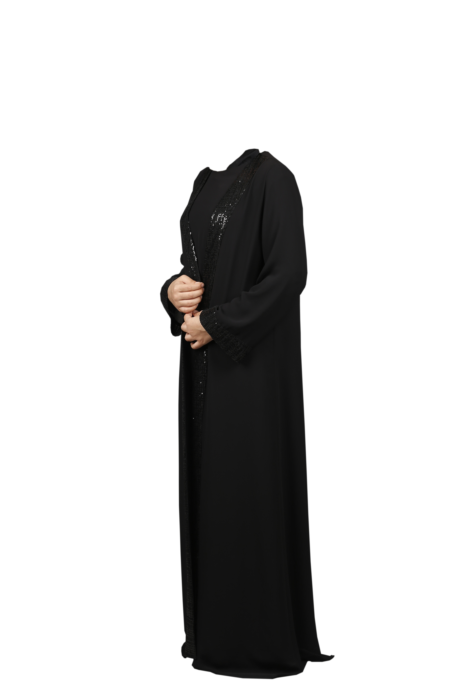 FSHTU011800045 Turkish Jubah - Black Embroider Zip With Cutslips C.jpg