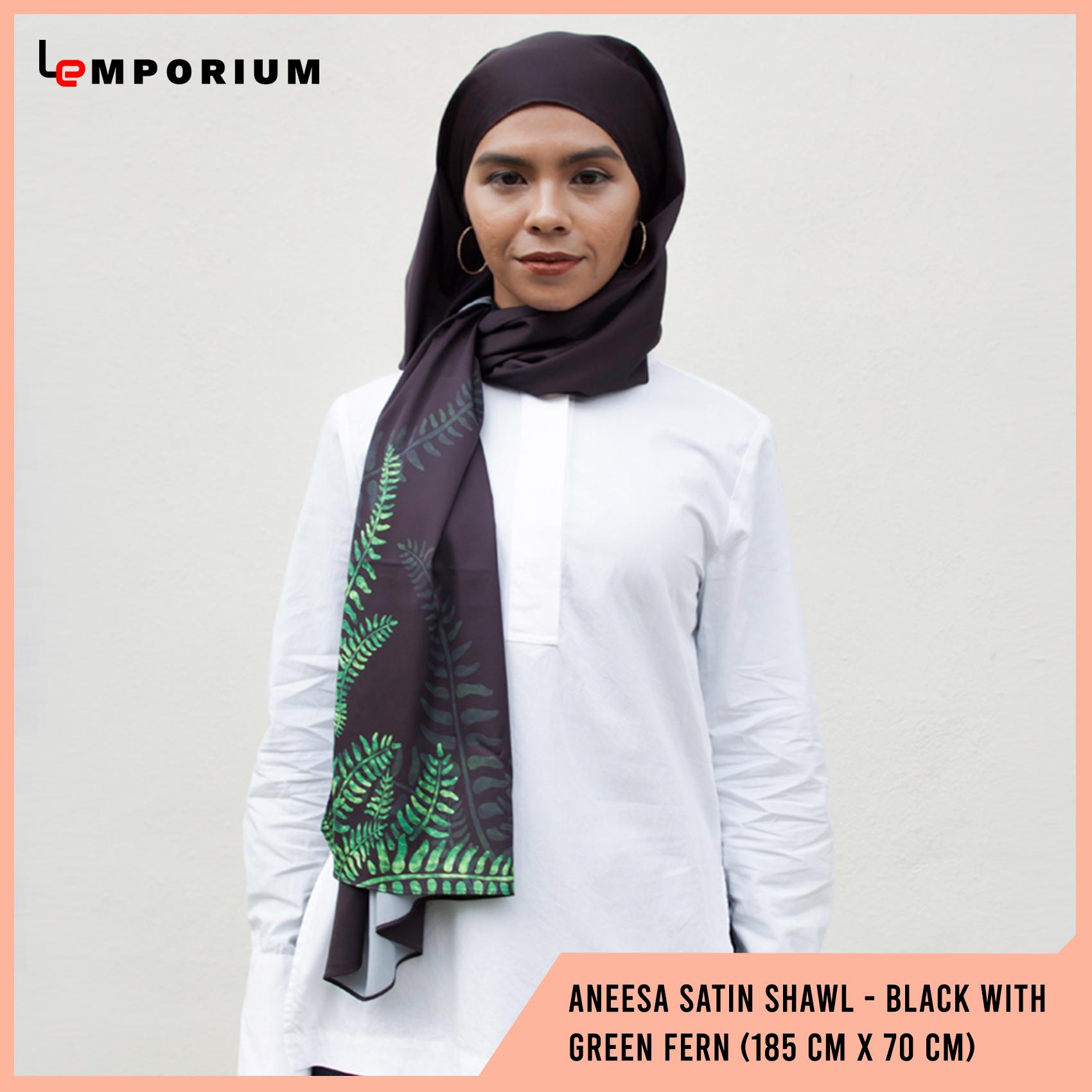 ANEESA-Satin-Shawl---Black-With-Green-Fern-(185-cm-x-70-cm).jpg