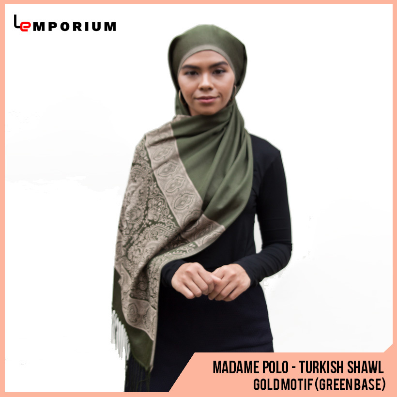 MADAME-POLO-TURKISH-SHAWL-WITH-TASEELS---GOLD-MOTIF-(GREEN-BASE).jpg