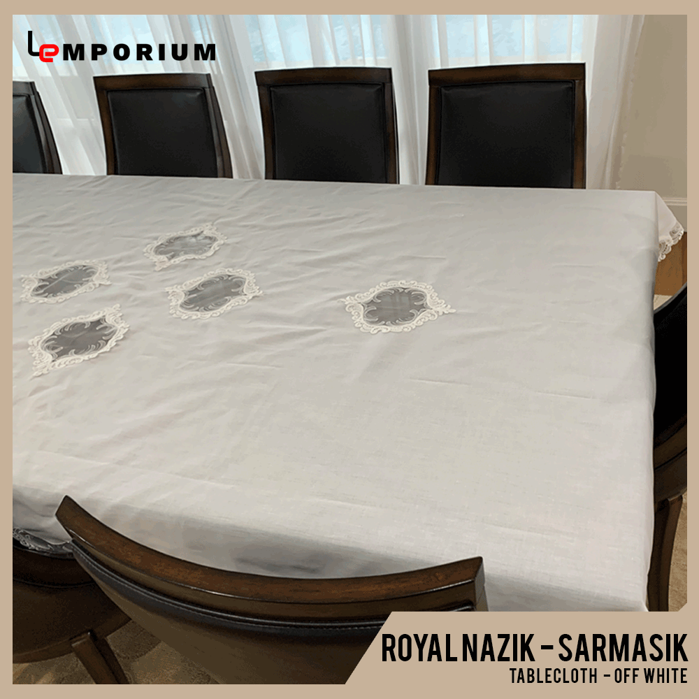 ROYAL NAZIK - SARMASIK TABLE CLOTH - OFF WHITE.png