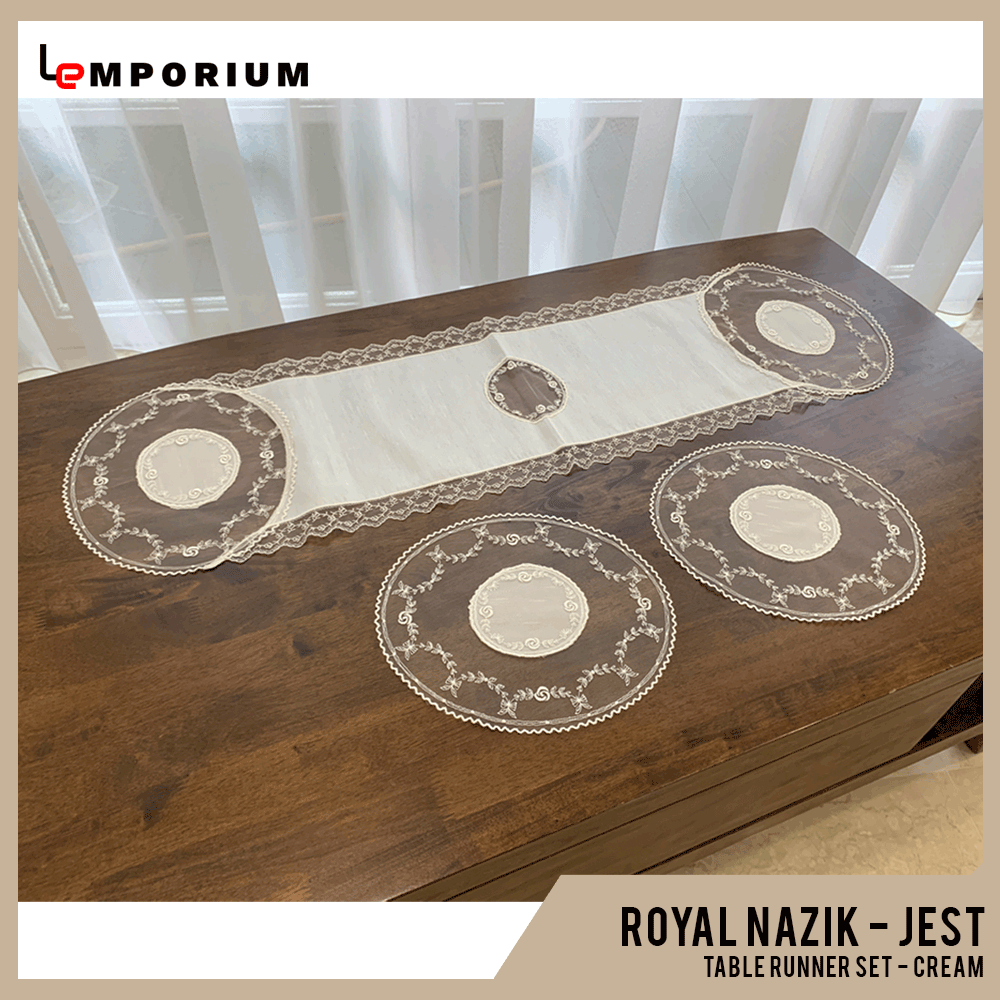 - ROYAL NAZIK - JEST TABLE RUNNER - CREAM.png