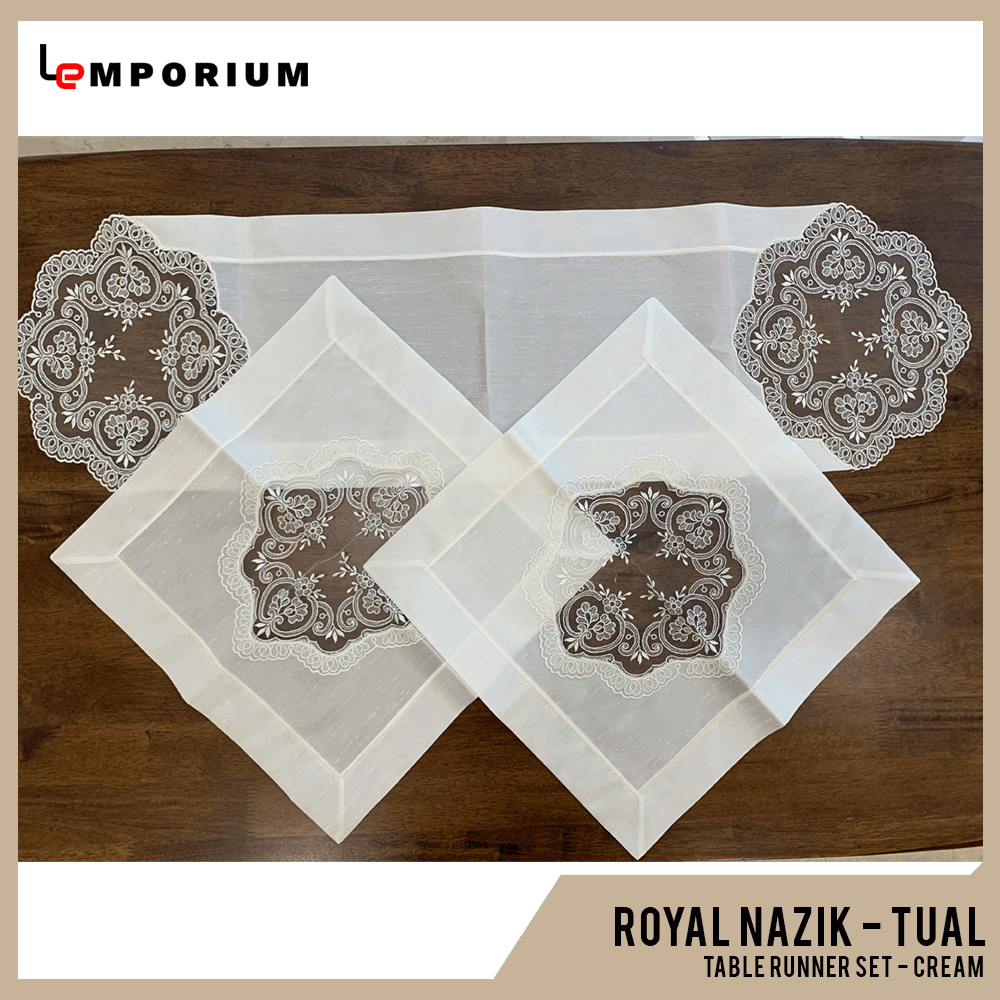 - ROYAL NAZIK - TUAL TABLE RUNNER - CREAM.png