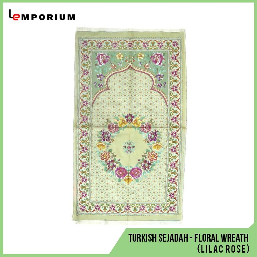 _0032_65 - Turkish Sejadah - Floral Wreath Motif - Lilac Rose (Dusty G.jpg