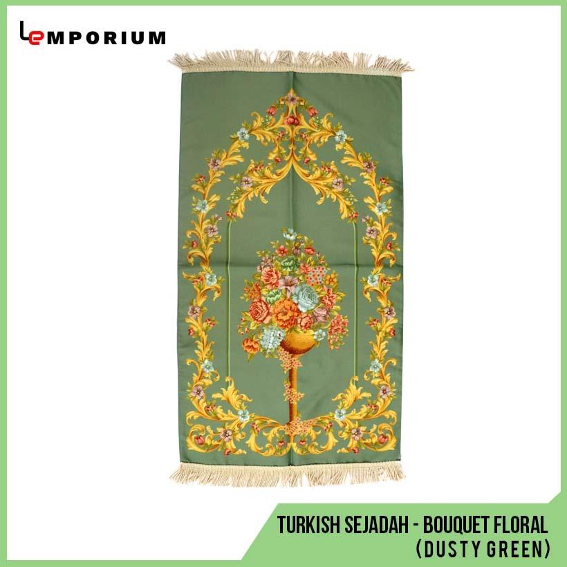 _0026_47 - Turkish Sejadah - Bouquet Floral Motif (Dusty Green).jpg