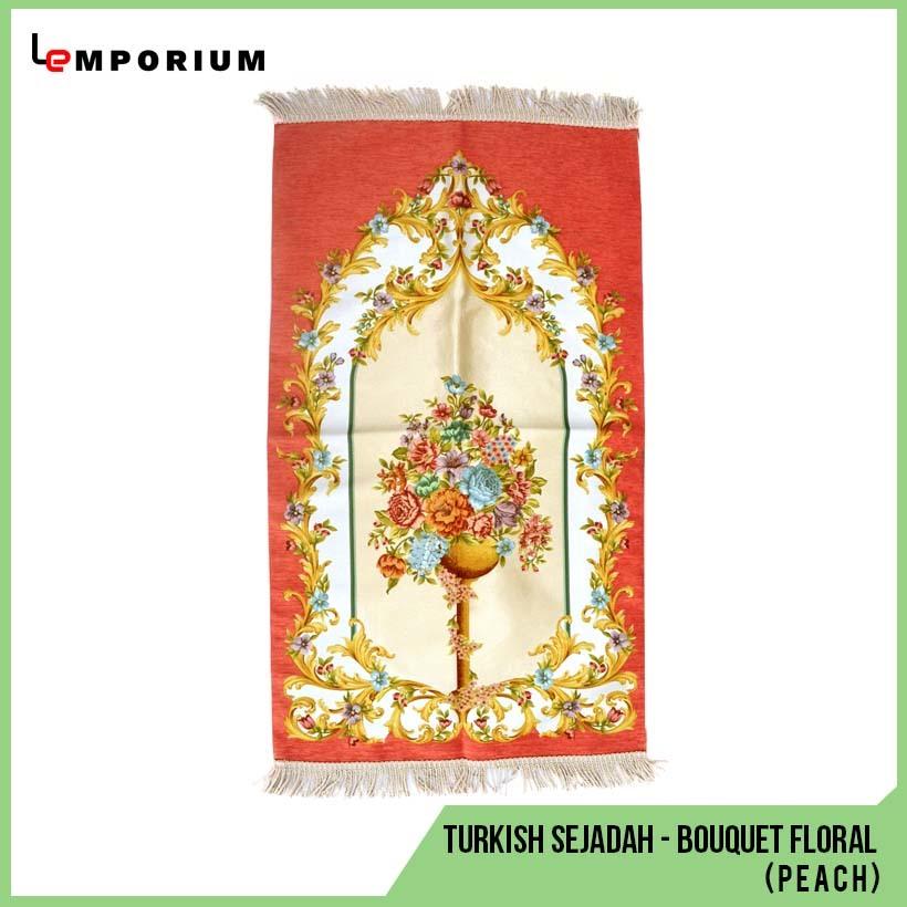 _0024_45 - Turkish Sejadah - Bouquet Floral Motif (Peach).jpg