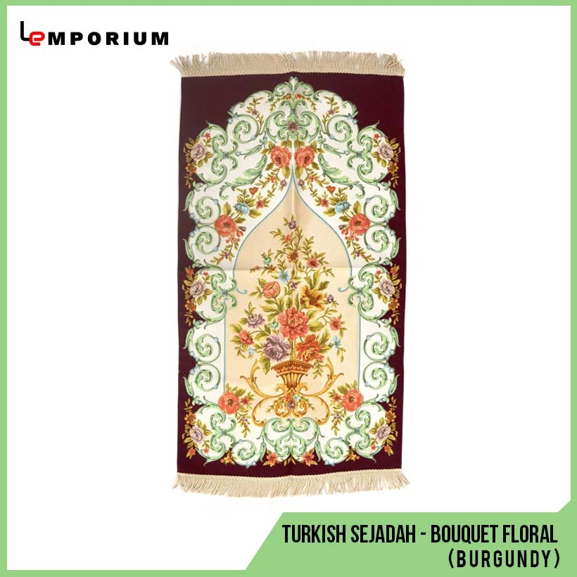 _0023_44 - Turkish Sejadah - Bouquet Floral Motif (Burgundy).jpg