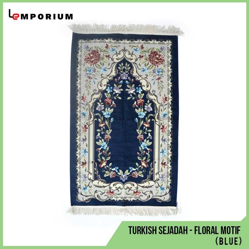 _0012_#30 - Turkish Sejadah -  Floral Motif (Blue).jpg