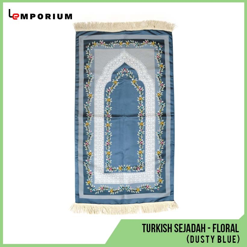 _0016_28 - Turkish Sejadah - Floral (Dusty Blue).jpg