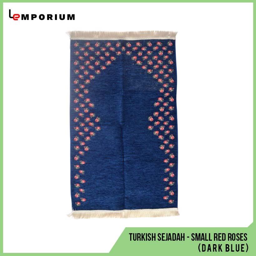 _0015_15 - Turkish Sejadah - Small Red Roses (Dark Blue).jpg