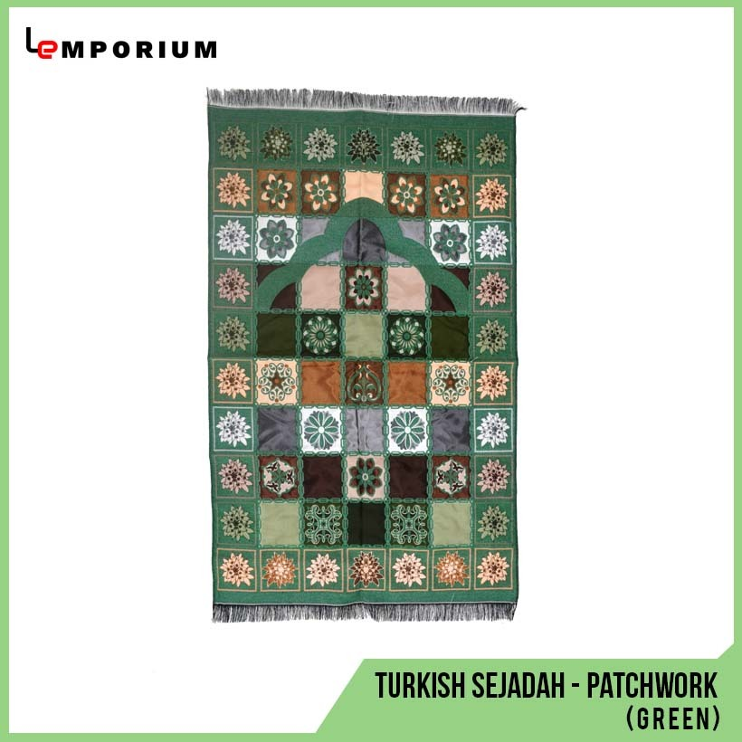 _0007_#20 - Turkish Sejadah - Patchwork (Green).jpg