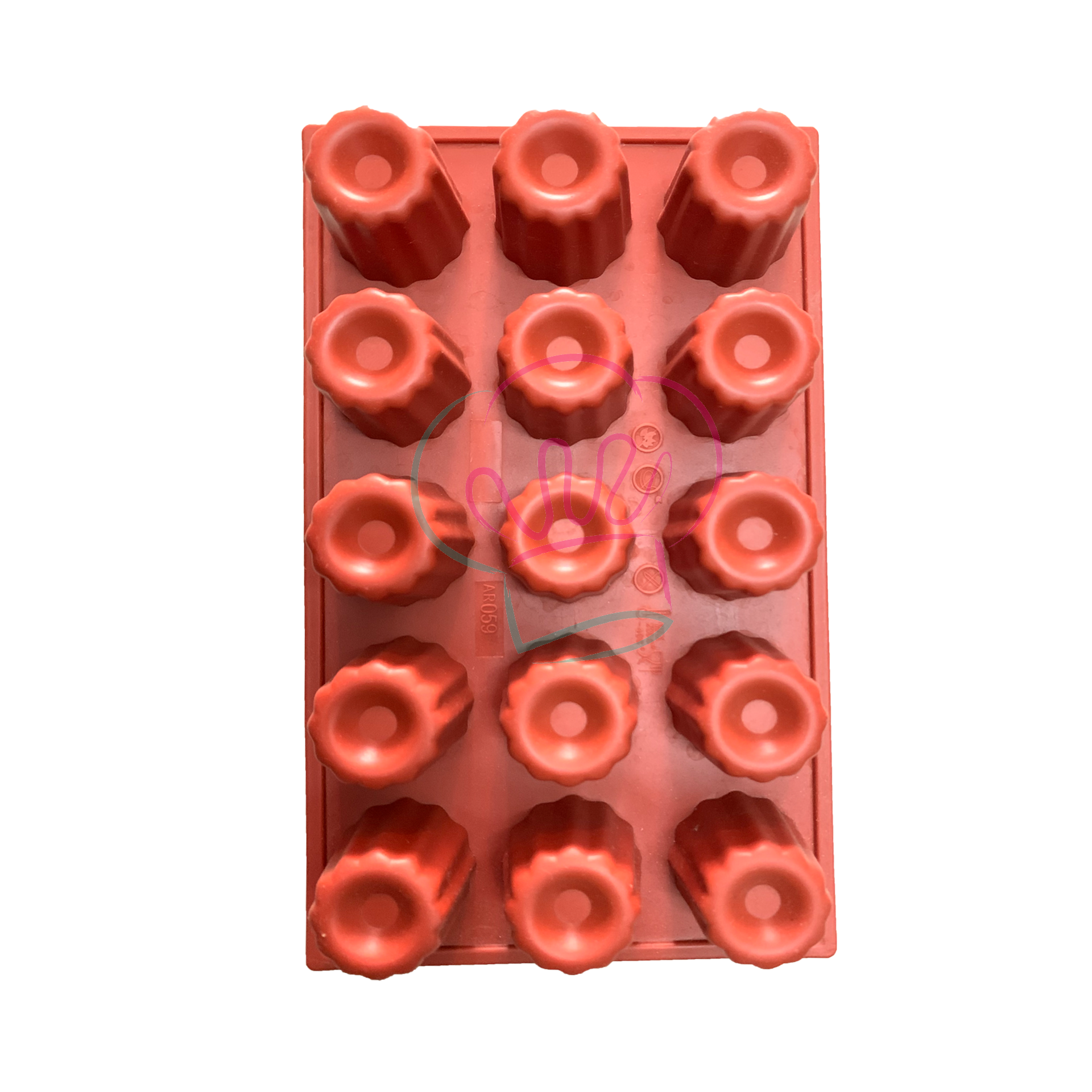 Canneles 15 Cavities Silicone Mould.png