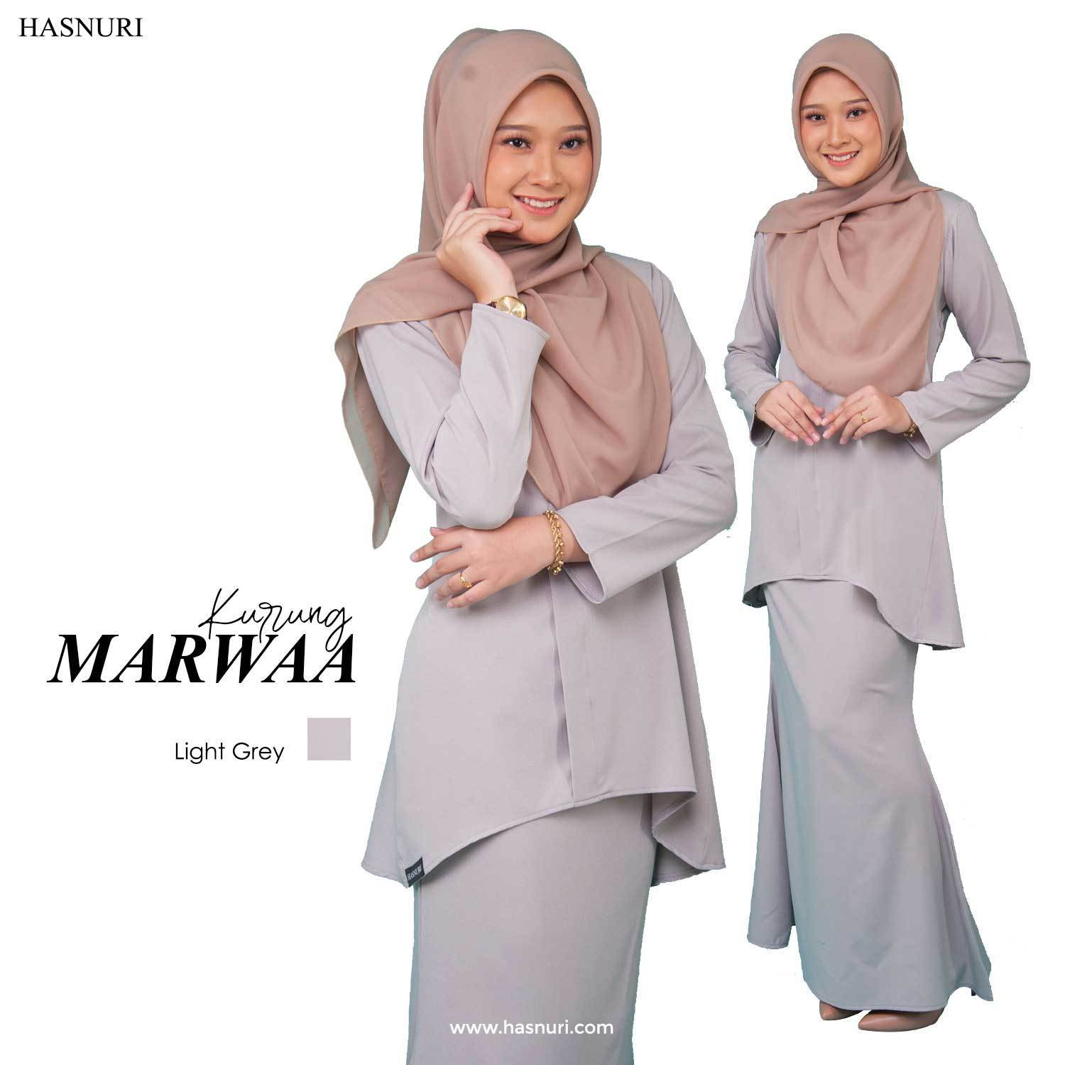 KURUNG MARWAA-LIGHT GREY, SS