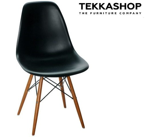 SFDC0902BL Contemporary Style Polypropylene Seat Dining Chair With Beech Wood Legs.jpeg