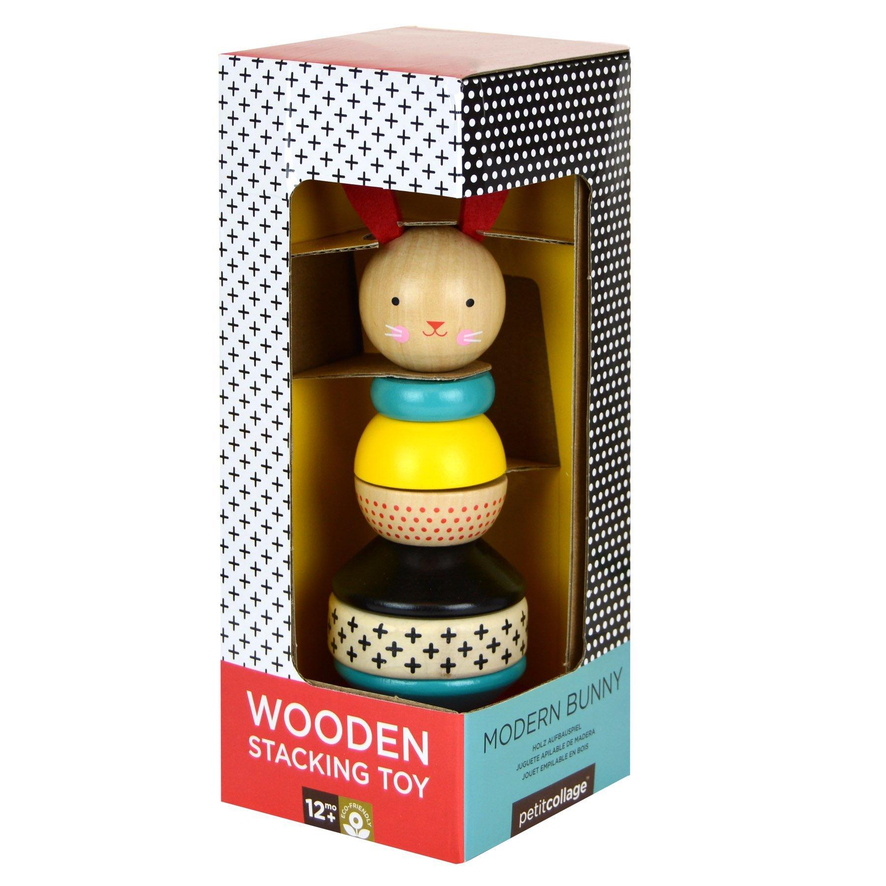 PETIT COLLAGE Modern Bunny Wood Stacking Toy 1.jpg