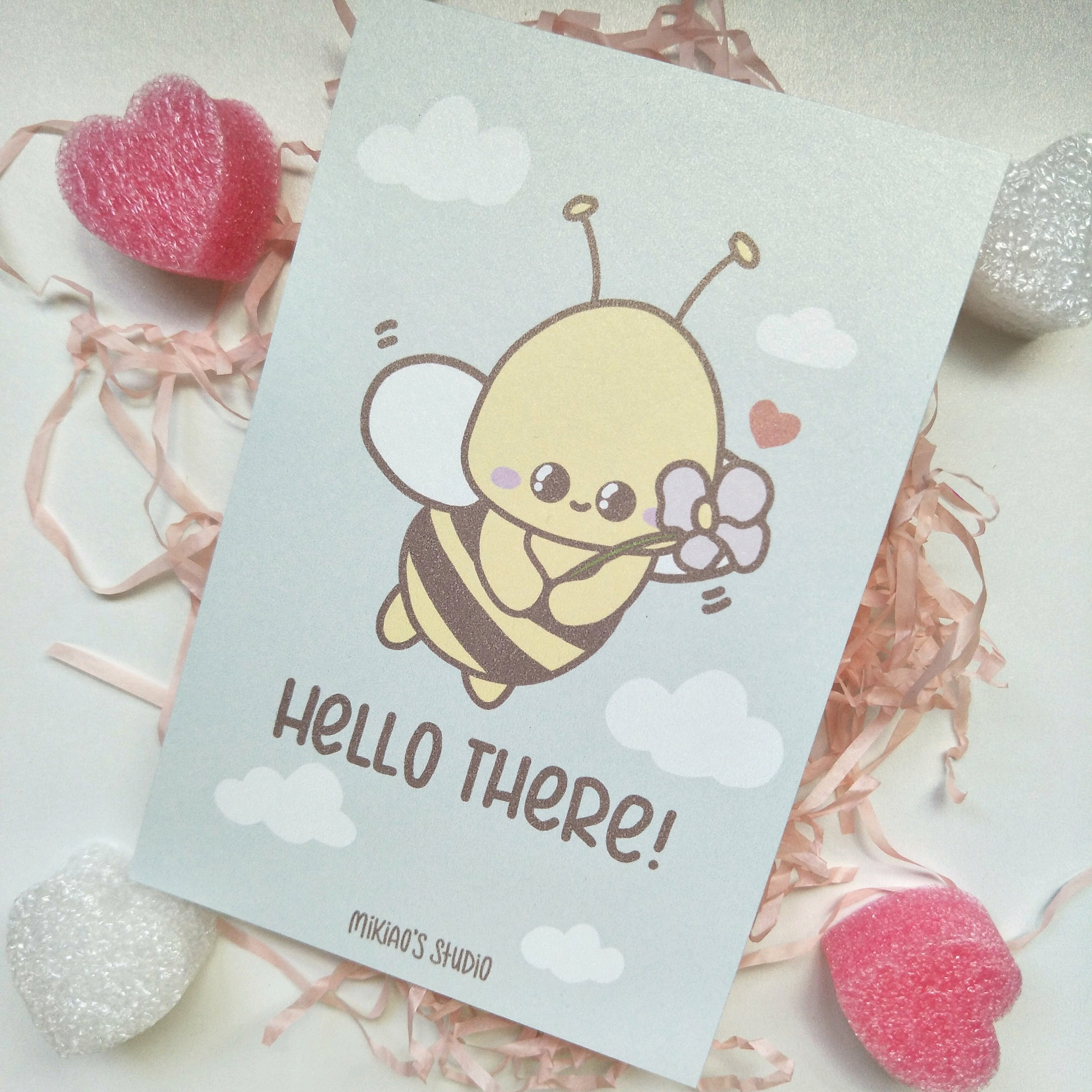 Beezy Bee Hello There Postcard.jpg
