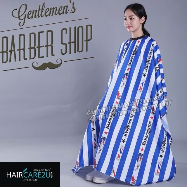 Blue Stripes BarberShop Hair Cutting Cloth Barber Salon Cape.jpg