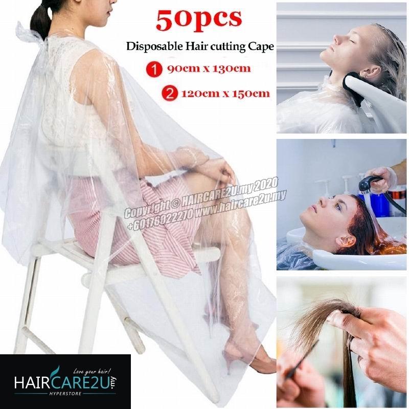 50pcs Barber Salon Disposable Hairdressing Apron Cutting Cape.jpg