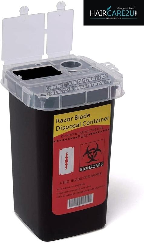 HAIRCARE2U Barber Salon Razor Blade and Sharps Disposal Container Dispenser Case Waste Storage Box Needle Medical Bin.jpg