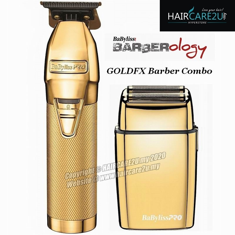 BaByliss Pro Gold FX Combo Deal - Gold Skeleton Metal Lithium Outliner & Gold Metal Cordless Double Foil Shaver.jpg