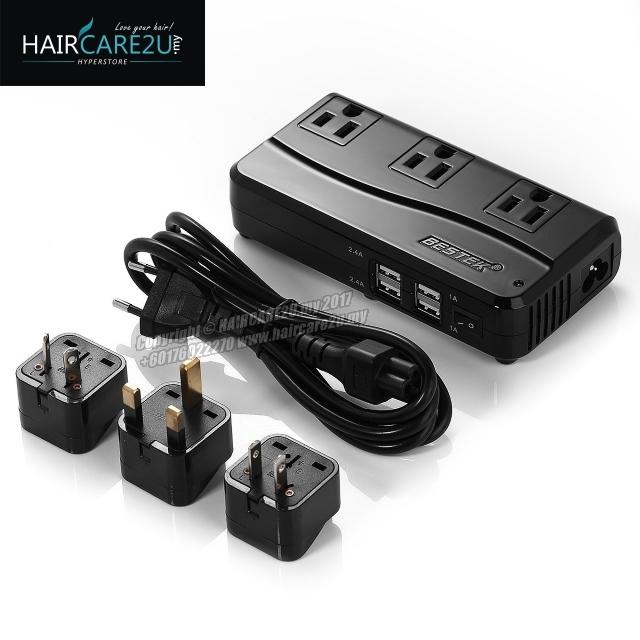 BESTEK Universal Travel Adapter 220V to 110V Voltage Converter with 6A 4-Port USB Charging Worldwide Plug Adapter Black.jpg