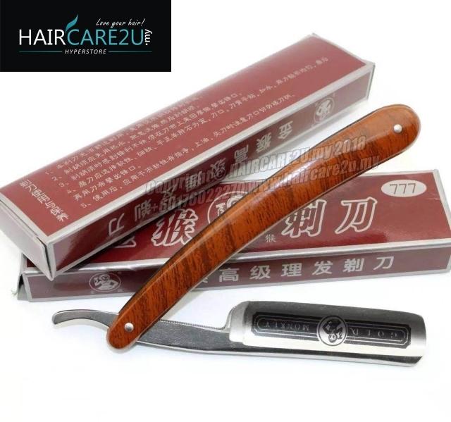 Gold Monkey 777 Straight Barber Folding Carbon Steel Shaving Razor Single Blade.jpg