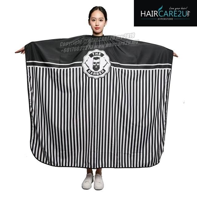 The Barber Head Black & White Stripes Cutting Cloth Salon Cape 2.jpg