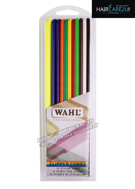 Wahl 12 Pack Flat Top Assorted Coloured Clipper Combs #3206-200.jpg