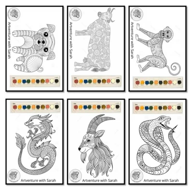 Zantangle Chinese Zodiac Animals 1.jpg