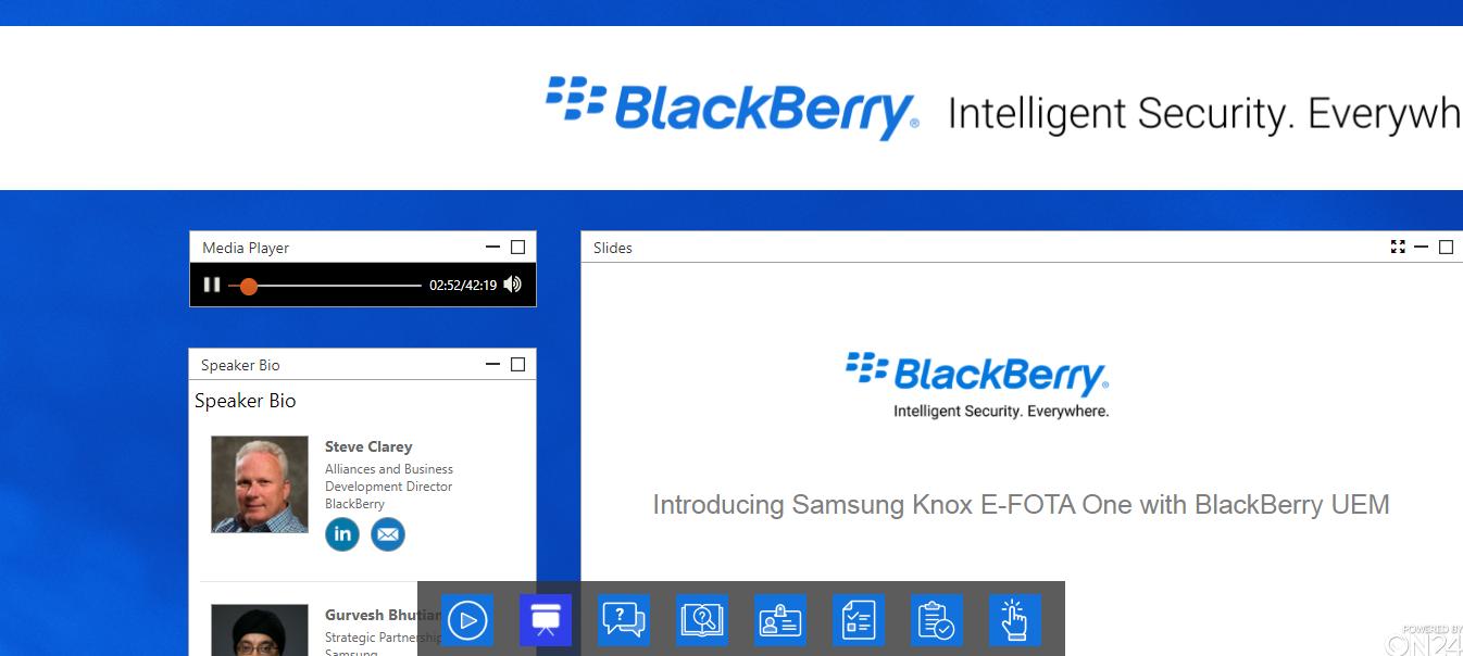 Introducing Samsung KNOW e-FOTA with BlackBerry UEM