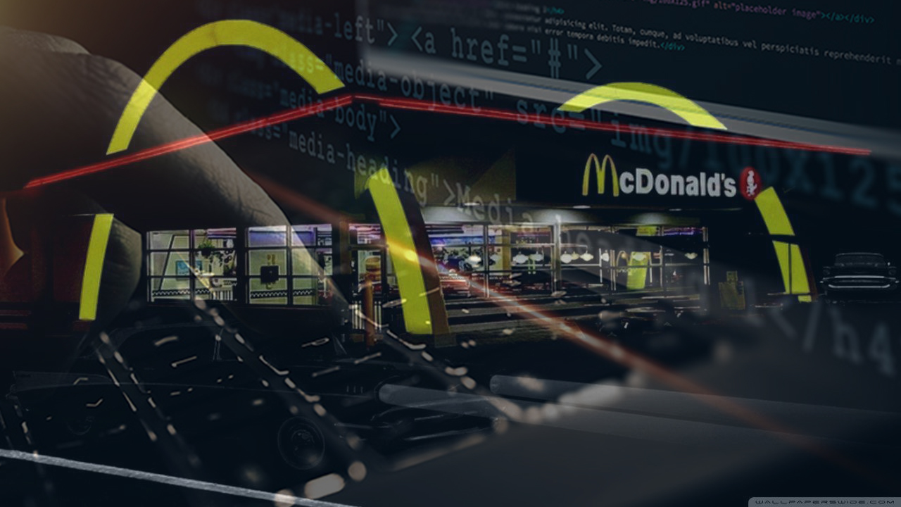 The golden arches of burgerdom have been hacked!