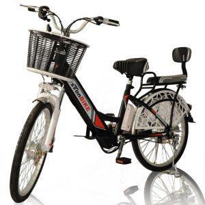 Basikal elektrik dengan carrier (bakul barangan)