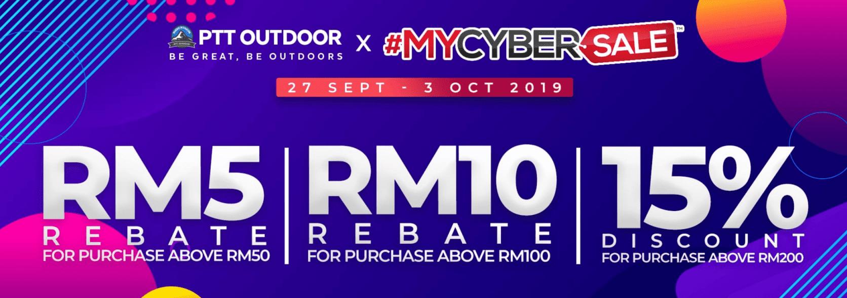 PTT Outdoor mycybersale promo