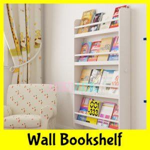 Best wall-mounted white bookshelf for kids
