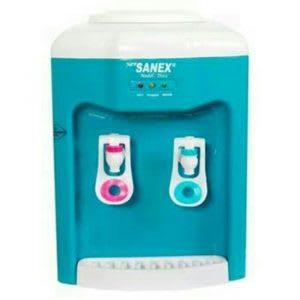 Desain ergonomis dengan katup safety lock dan tombol on-off khusus air panas