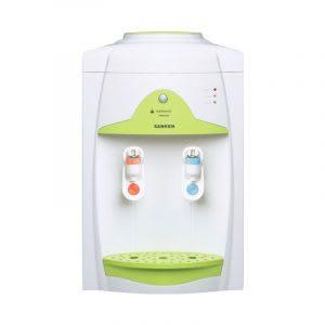 Dispenser mini hemat listrik dengan teknologi pembersih lumut dan jamur