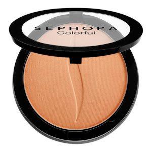 Blush on natural dengan efek glowing dan glittery