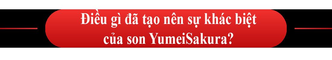 Điều gì đã tạo nên sự khác biệt của son YumeiSakura?