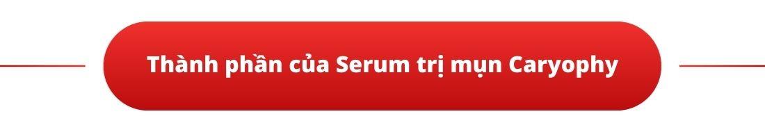 Thành phần của Serum trị mụn Caryophy