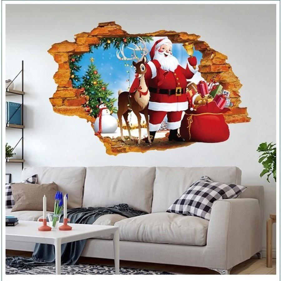 Làm tranh treo tường để tự trang trí Noel