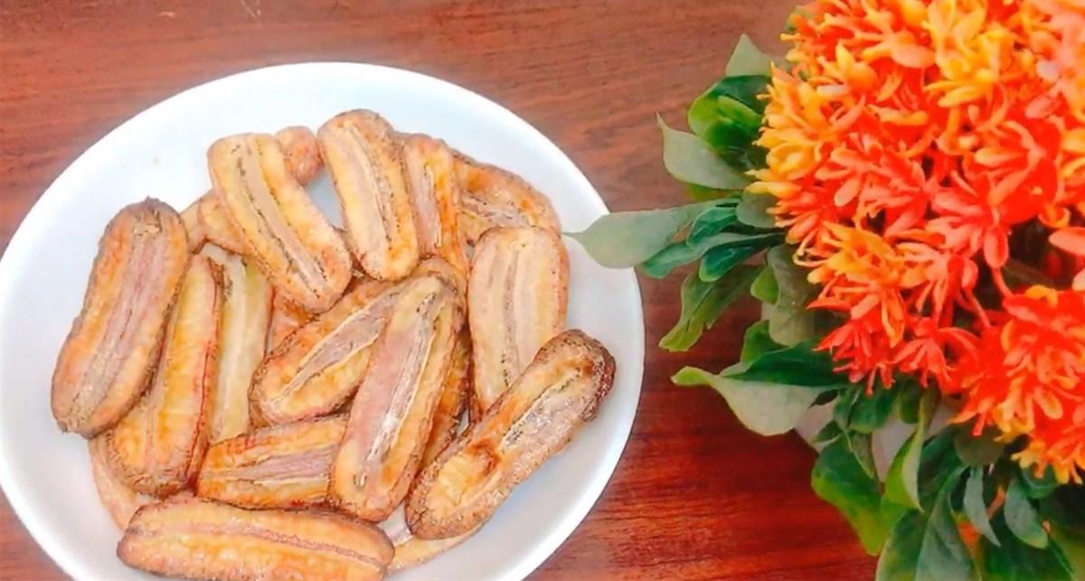 Chuối sấy khô - Một món ăn vặt ngày Tết vô cùng hấp dẫn