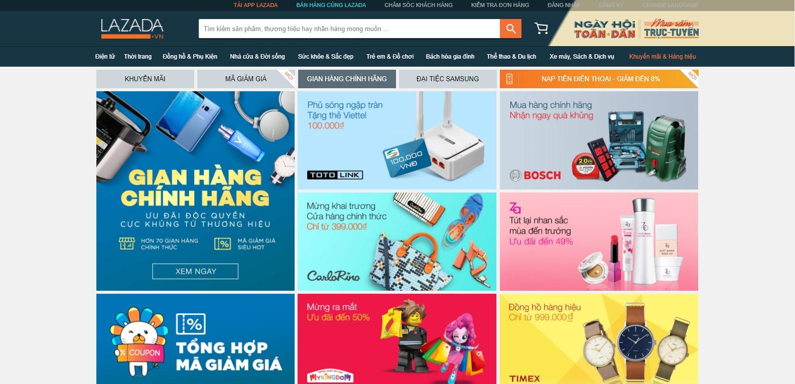 Lazada - Kênh bán hàng online với mặt hàng chất lượng