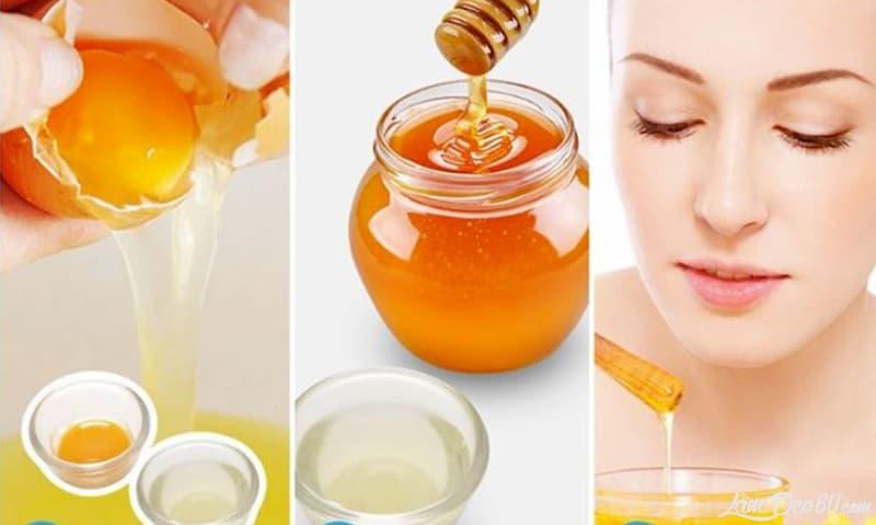 Làn da căng bóng và mịn màng hơn với mặt nạ mật ong trứng gà